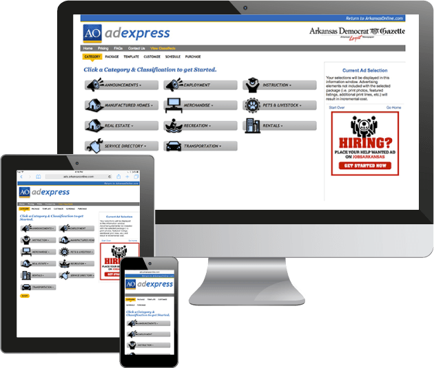 Self Serve Newspaper Classified Software