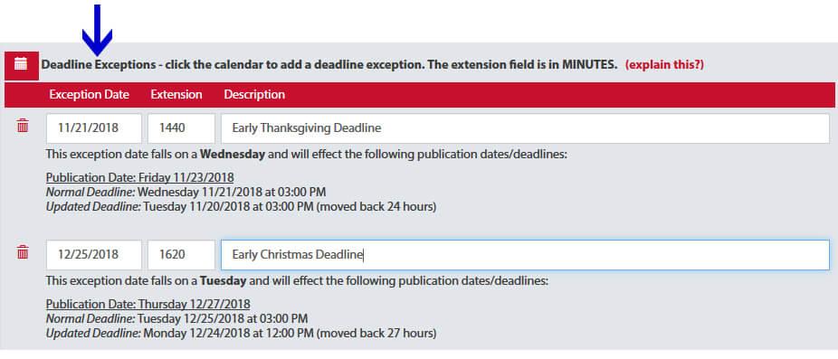 Adportal Early Deadline Screenshot