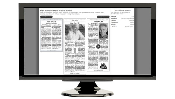 Obituary Self-Serve Options