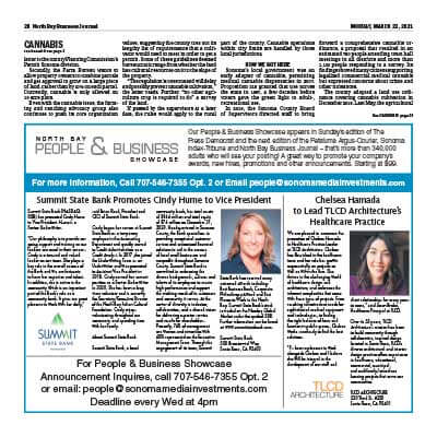 North Bay Business Journal Article